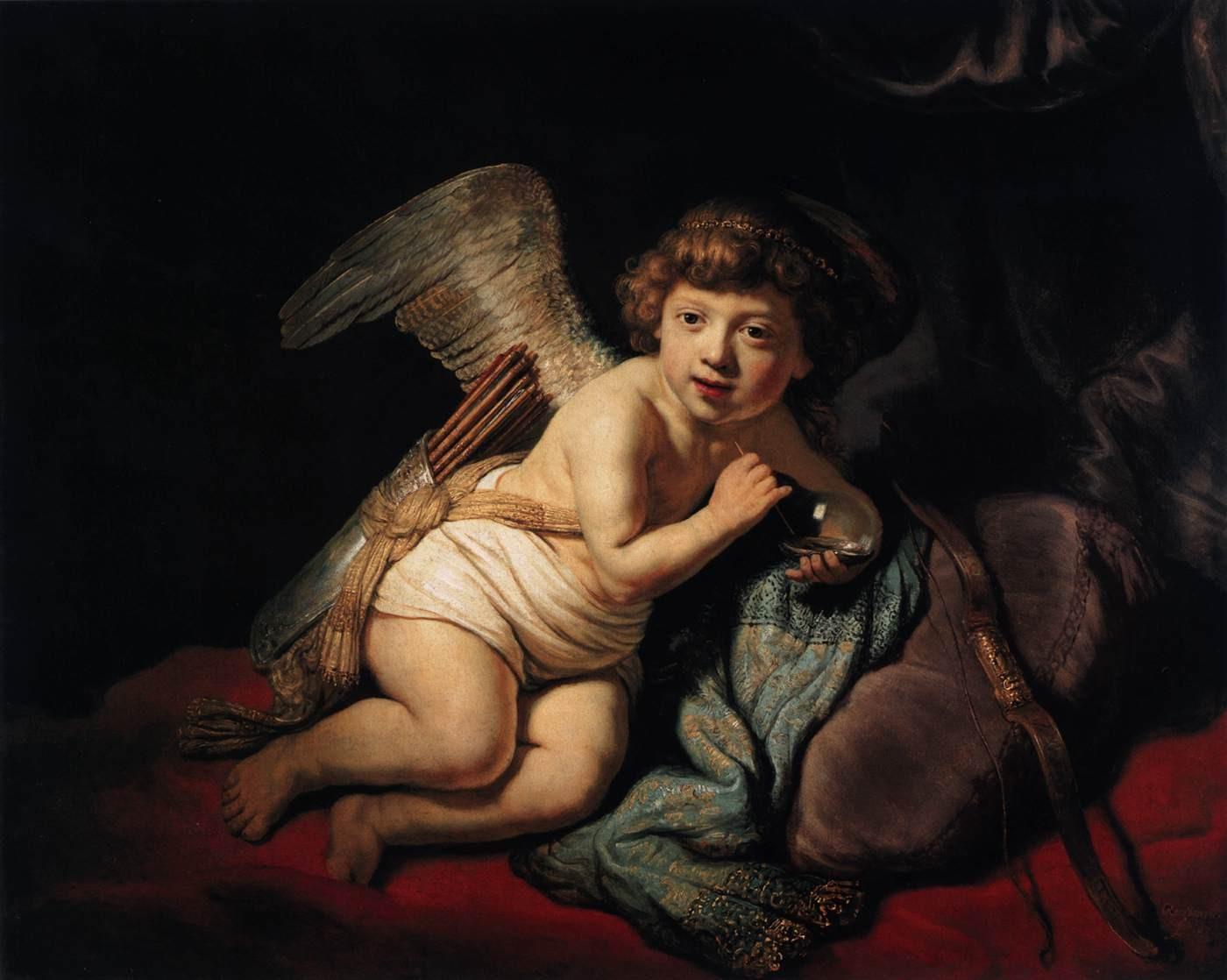 Cupid Blowing a Soap Bubble, 1634 Rembrandt van Rijn